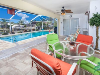 Photo for Private Heatable Pool - on Canal - Boat Dock - Fort Myers Beach - New Furnishings Throughout