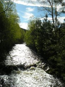 Enjoy fly fishing on 2 miles of private river.