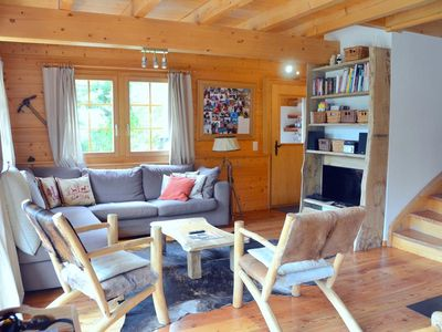 Photo for Outside : chalet for 6 persons, balcony and semicovered terrace with garden furniture, garden, very