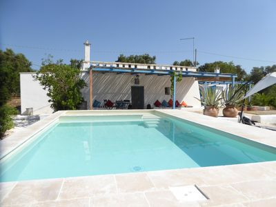 Photo for Converted Saracen Trullo with Pool in country near Ostuni