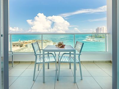 Photo for Oceano Studio   Oceanfront Studio with Kitchen in Trendy Condado Location