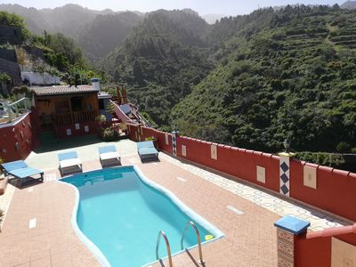 Photo for Tkasita Galicia 1, Pool with Sea and Mountain Views. La Palma, Canary Islands.