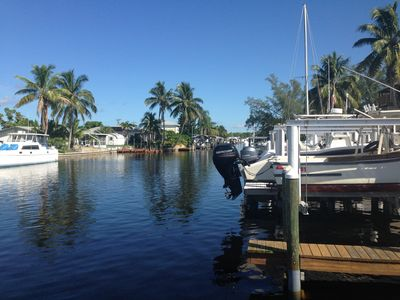 Monroe Canal Gulf Access next to bait & tackle shop and boat ramp.