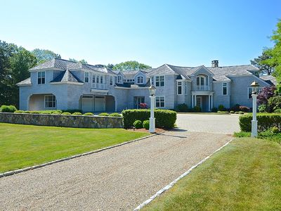 Photo for Breathtaking Waterfront Estate ~ Heated pool, beach, hot tub and dock.