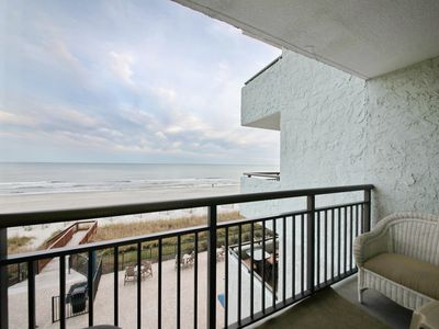 Photo for Beautiful East Coast Sunrises from the Balcony of this 1bd Oceanfront Condo