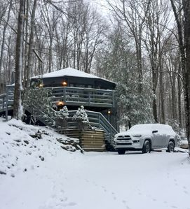Photo for Ski, hike, golf, fish or enjoy nature at this renovated Chalet on Beech Mountain