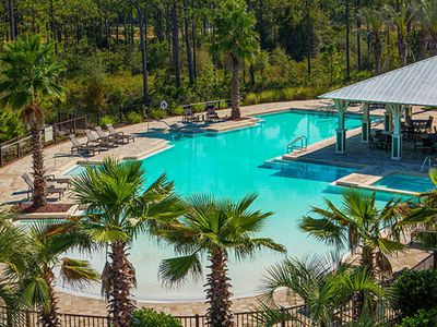 Photo for 4-Seater Golf Cart and 4 Bikes Included! Across from the Pool! - Shore Beats Work at NatureWalk 30A!