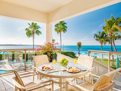 Photo for 3 BED VILLA ON GRACE BAY BEACH! Right on Grace Bay beach and snorkelling reef