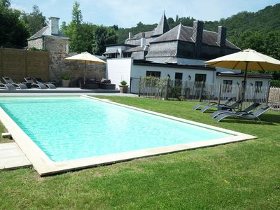 Photo for Stylish Mansion in Ardennes with shared Pool
