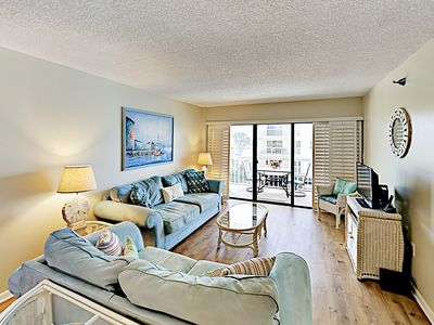Photo for Updated All-Suite Condo w/ Heated Pool & Private Balcony - Steps to the Beach