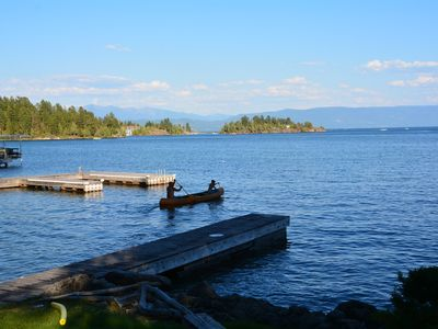 Photo for 1940s Lake House with lake frontage and beautiful views.