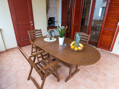 Photo for Two bedroom apartment with terrace Novalja, Pag (A-17110-j)