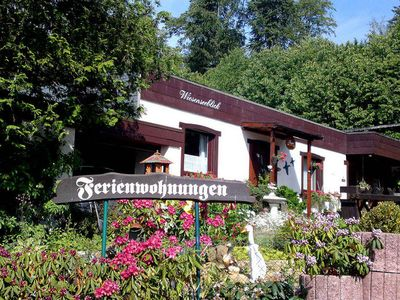 Photo for Beautiful holiday home in the Westerwald with a view of lake Wiesensee