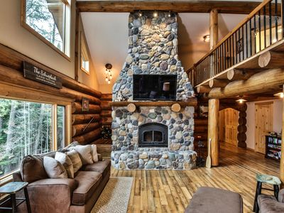 Photo for NEW! Gorgeous Log Home on Big Sand Lake in Wisconsin's Northwoods