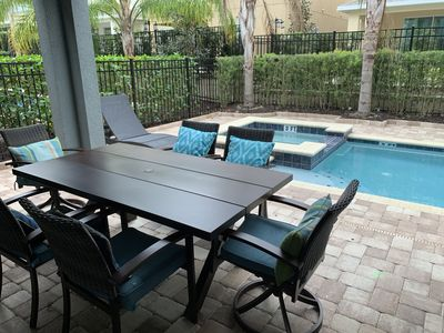 Photo for 8 BEDROOM LUXURY HOME POOL+SPA+GRILL+Movie Room+ Arcade 10 minutes from Disney!