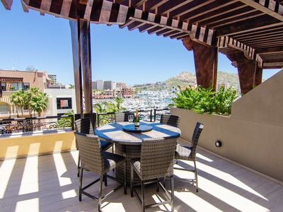 Photo for Summer Specials Luxury Condo on Cabo marina, deck w/view, wi-fi, A/C, grill, gym