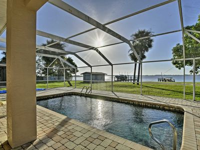 Photo for Punta Gorda Waterfront Home w/Private Pool & Dock!
