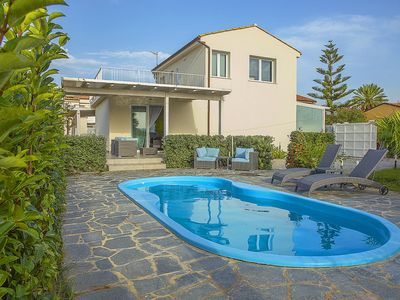 Photo for SICILYFLAT Villa with pool a few steps from the beach of Lascari