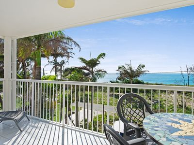 Photo for Views of Moreton Island from balcony at Beachside Haven Rickman Pde, Woorim