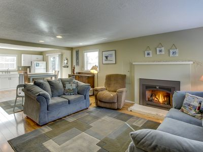 Photo for Updated, dog-friendly cottage with outdoor firepit, three blocks from the beach