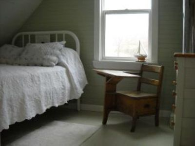 One of four bedrooms, this one with double bed