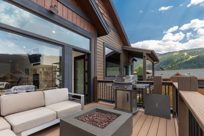 See the ski slopes from the deck
