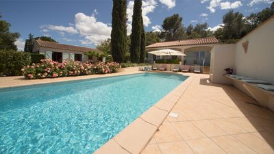 Photo for Holiday paradise with safe, heated swimming pool (April-Nov.) Panoramic views!