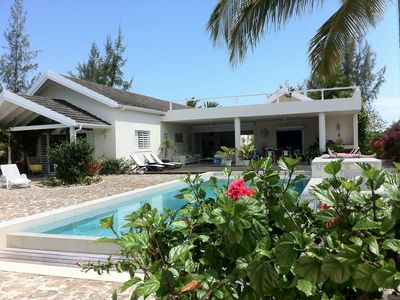 Photo for Luxury 4/5 beds Beach House Private Pool/Sea Views/Own Beach/Wi-Fi Jolly Harbour