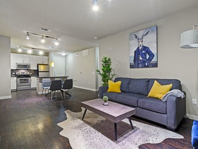 Photo for Chic Apartment in the Heart of FW | King Bed | Gym