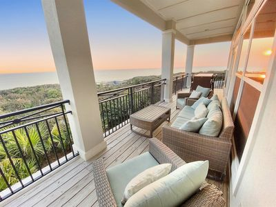 Photo for Gulf front, private beach access, pool & only minutes from Seaside & Sleeps 10!
