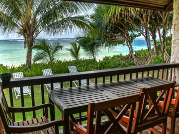 Clic Casual Beachfront Hale 20 Ft To The White Sand Of Anini