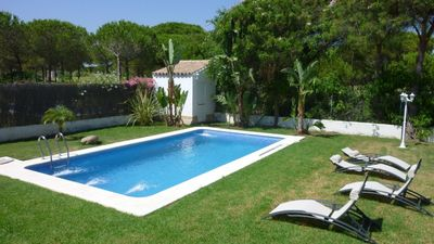 Photo for Large Villa, Private pool, 1000m beach, golf, air conditioning, TV sat,...