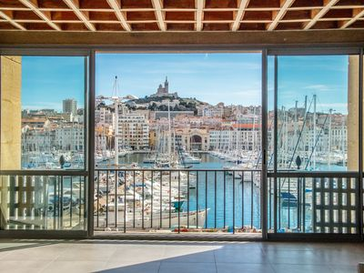 Photo for Gorgeous Waterfront Apartment with Old Port Views