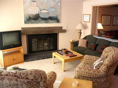Photo for Cute Condo with BBQ and Gas Fireplace, 1 Block to Shuttle!