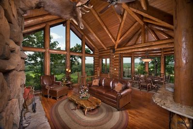 Living area greets you with expansive views of the Branson skyline.