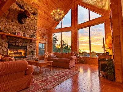 Photo for Shenandoah Peak Log Home - Spectacular Views at the Ultimate Getaway!