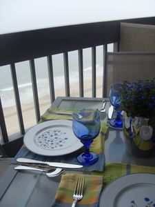Isn't this what it is all about? Your own private oceanfront balcony!