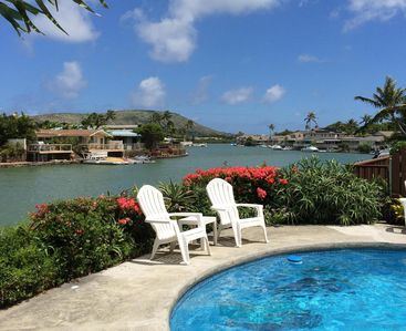 Photo for Hawaiian Waterfront Home with Private Swimming Pool and Mountain Views