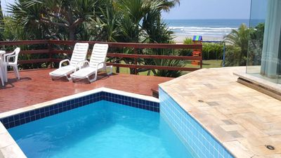 Photo for Beachfront Home, 4 Suites, Air Conditioning, Gated Community