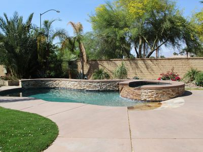 Photo for Beautiful Modern Home sleeps 12  with heated Pool & Spa close to Polo Field