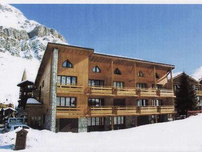 Photo for Apartment on the snow front, ski in feet free wifi