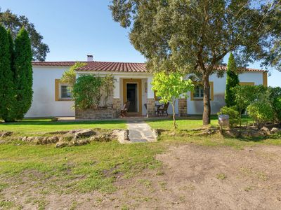 Photo for Cozy Holiday Home in Herrera de Alcántara with Swimming Pool