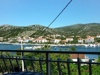 Photo for Two bedroom apartment with balcony and sea view Seget Vranjica, Trogir (A-974-b)