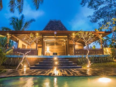 Photo for 3 BR wooden villa w/ private pool@SandanaUbudVilla