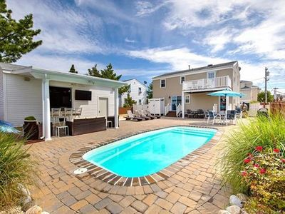 Photo for Ideal indoor/outdoor living with pool, walking distance to all in Beach Haven