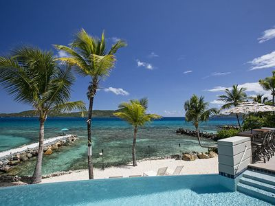 Photo for ONE BEACH ROAD; 5 Bedroom, 5 1/2 Bath Beachfront Oasis  St Thomas VI