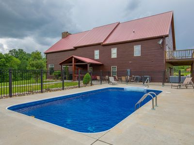 Photo for Huge lodge with seasonal swimming pool and accommodations for up to 26 guests! Near Cantwell Cliffs!