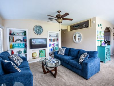 Photo for Private, newly remodeled/furnished pool home in walking distance to the beach!