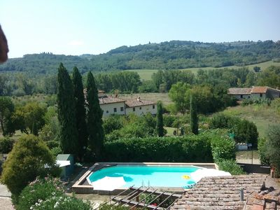 "Photo for LA FORNACE farmhouse in Chianti, 15 km from Florence, ""La Grande"""