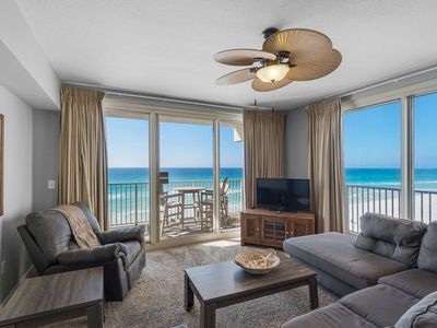 Photo for Shores of Panama - No Amenity Fees! Corner Unit, 5th Floor, 2 King BRs, Master on Gulf, Free WiFi
